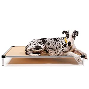 K9 Ballistics Chew Proof Elevated Dog Bed – Chewproof – All Aluminum – Indoor/Outdoor – Ripstop Ballistic Fabric – Ships Assembled – Fits Inside Crates Giant 50″ x 33″ x 7″