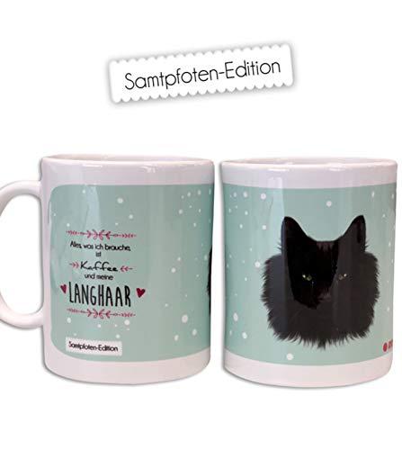 ROTPUNKT - Taza de cerámica, diseño de gatos y perros, 340