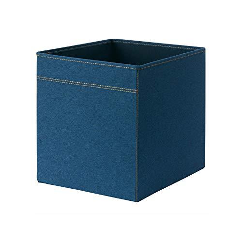 Ikea DRONA - Caja de almacenamiento para estantes, hogar, oficina, escuela, 33 x 38 x 33 cm, color azul