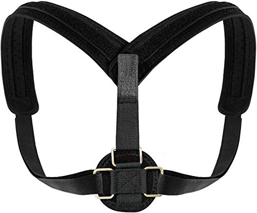 Back Posture Corrector for Women Men Kids by BV, Stainless Steel CLASPs, Fully Adjustable Breathable Comfortable and Effective Back Brace, Perfect For Slouching and Hunching