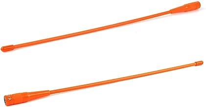 NAGOYA NA-771N Two Way Radio SMA-Male 144/430MHz UHF/VHF Antenna 15'' Soft Whip Orange Walkie Talkie Aerial fit YAESU VERTAX VX-3R VX-5R Baofeng UV-3R TYT DM-UVF10 TH-UVF9(2packs)