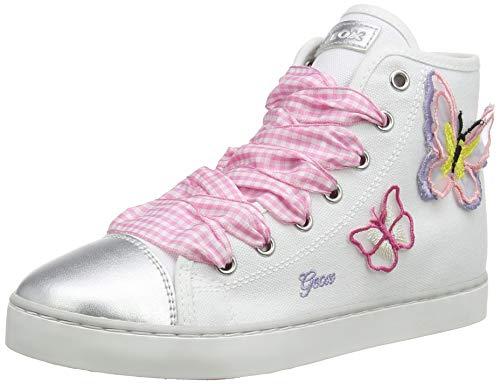 Geox JR CIAK Girl D, Zapatillas Altas Niños, Blanco (White/Pink C0406), 25 EU