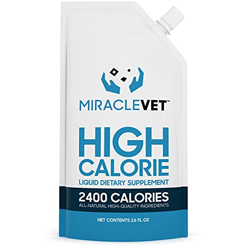 Miracle Vet High Calorie Weight Gainer for Dogs &...