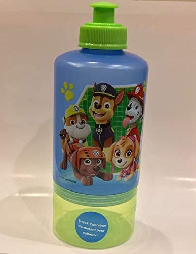 Pink Paw Patrol Pull Top Bottle with attacked Snack Container and Snack Container Zak Design BPA Free