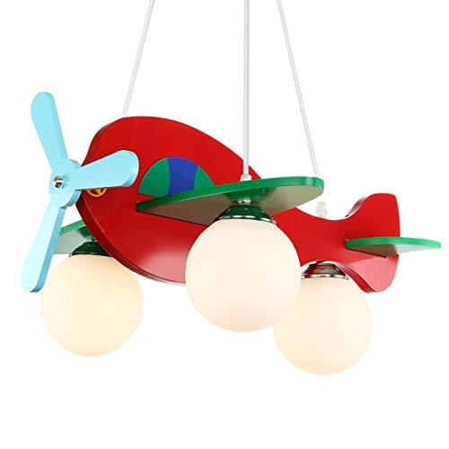 William 337 Avion d'éclairage de chambre pour enfants - lustre de plafond de fille de fille de chambre de dessin animé lustre de plafond (Couleur : 9w)