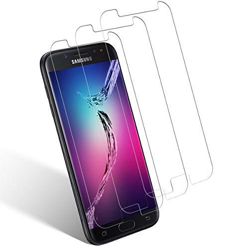 Aspiree Ecran Protection pour Samsung Galaxy J5 2017, Lot de 3, Verre Trempé Dureté 9H, Anti-Rayure, Sans Bulles D'air, HD 99% Transparent