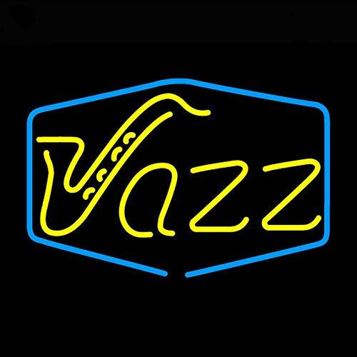 Neón Luz Lámpara Jazz Sala Neon Signo Neón Luz Signo Real Galss Tubes Custom Brand Design Restaurante Hotel Neon Signos En Venta