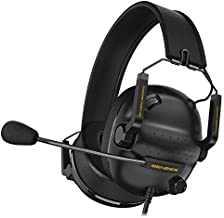 SENZER SG500 Surround Sound Pro Gaming Headset with Noise Cancelling Microphone - Detachable Memory Foam Ear Pads - Portable Foldable Headphones for PC, PS4, PS5, Xbox One, Switch