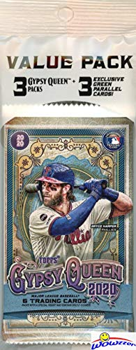 2020 Topps Gypsy Queen MLB Baseball Factory Sealed Jumbo Cello Pack with 21 Cards including 3 EXCLUSIVE GREEN PARALLELS! Look for Autos, Memorabilia, Short Prints, Parallels, Inserts & More! WOWZZER!