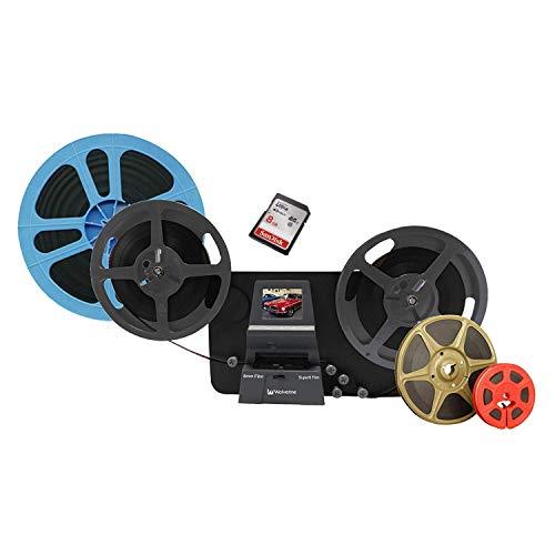 SUPER 8 Scanner MIETEN 1 Woche, Filmscanner für Super 8 und Normal 8, Film Digitalisierung in Full-HD, (max. Spulendurchmesser 24 cm), inkl. SD-Karte