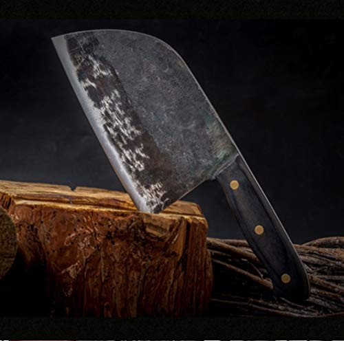 Chino Lleno de la espiga del cuchillo del cocinero forjado hecho a mano de alto carbono-cuchillo de acero con revestimiento de cuchillos de cocina Cleaver Fileteado rebanar Amplio carnicero cocina