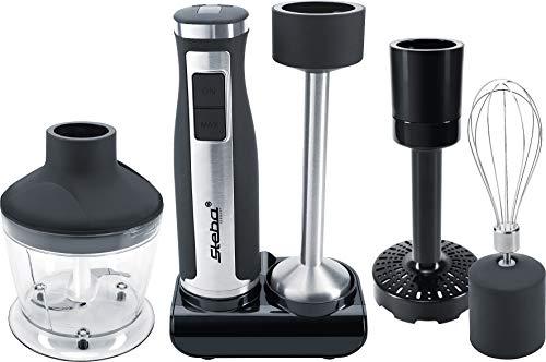 Steba staafmixer set MX 40, mixer van roestvrij staal, 8 snelheden van 7000 tot 14000 omw/min, 7 opzetstukken, LED-display, vaatwasmachinebestendige onderdelen