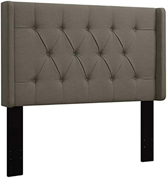 Pemberly Row Upholstered Full Queen Panel Headboard In Taupe Brown
