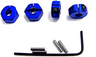 Hot Racing SLF1006 Blue Aluminum Locking 12mm Wheel Hex Kit, Blue