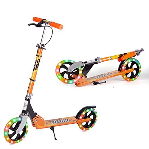 Hou Hexin Trade Stunt SCUNTER Es Ligero Y Resistente A Los Acrobacias Y Saltando Acrobacias Escarpadas Y Duraderas Scooter Juventud (Color : Orange)