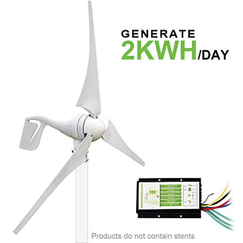 ECO-WORTHY 400 Watt Wind Turbine Generator Power with 20A Hybird Charge Controller for Charging 12 or 24 Volt Battery