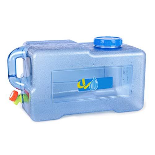 Sliveal Wasser Kanister 5/8/12/15/25 Liter Mit Hahn Camping Lebensmittelecht Weithals Bpa Frei Blau Auto Tragbar Geeignet Für Outdoor-Camping Und Fahren (25l)