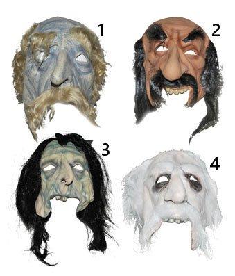 Masque en caoutchouc avec moustache et les cheveux dans les modèles de choix 4