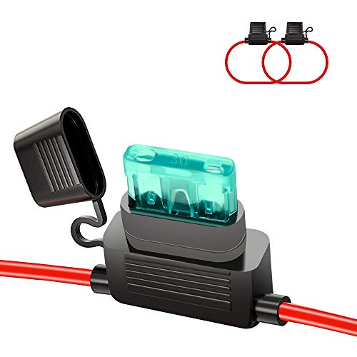 HUIQIAODS ATC/ATO 30A In-Line Fuse Holder 16 Gauge Wiring...