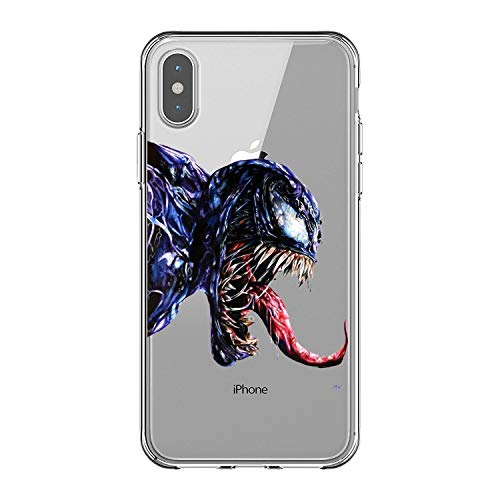 Todo Fundas Compatible con iPhone, Superheroes DC Comic Spiderman Joker Escuadron Suicida Venom Harley Quinn Manga Anime Dibujos Niños Gel Silicona (iPhone 7 Plus / 8 Plus, 9)