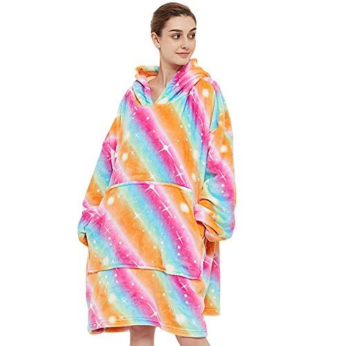 Venustas Wearable Blanket Hoodie, Oversized Sherpa Blanket Hoodie Sweatshirt,Cozy Warm Soft Fuzzy...