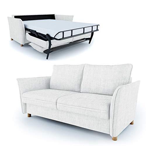 Place to be slaapbank als dagbed ligvlak 140 cm Eiche massiv Wit P9206 met bescherming tegen vlekken