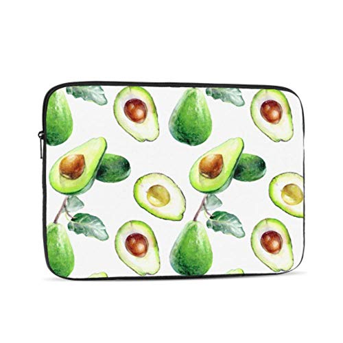 Avocado Tropical Fresh Fruit Pattern Neoprene Sleeve Pouch Case Bag for 11.6' Inch Laptop Computer. Designed to Fit Any Laptop/Notebook/ultrabook/MacBook with Display Size 11.6' Inches