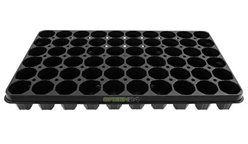 GREEN24 XL Pro QP60 Anzuchtplatte Topfplatte Premium Profi Topfpalette, 60 Pflanztöpfe Extra stabil, viele Jahre wiederverwendbar