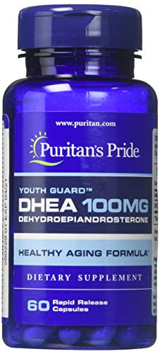 Puritans Pride Anti-Aging* 100 Mg- Capsules, White, 60 Count (Pack of...