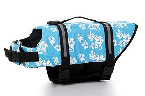 Chaleco salvavidas para mascotas Chaleco salvavidas para mascotas, Perros, Chaleco de natación,Protector de la vida del salvavidas del animal doméstico Protector de piscina, Playa, Azul par