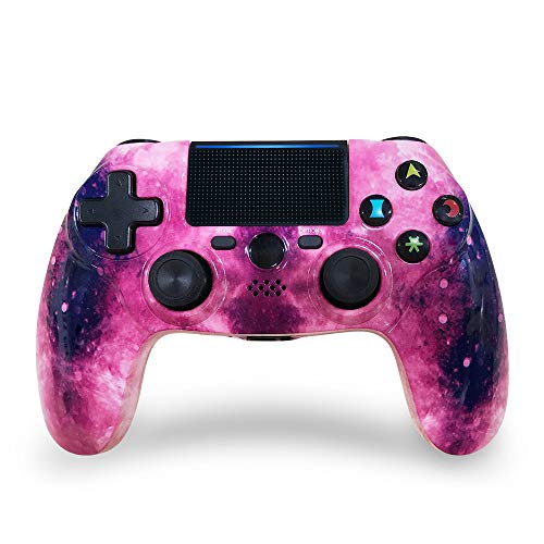 CHENGDAO PS4 Controller Wireless 2020 High Performance Dual Shock Controller for Playstation 4/Pro/Slim/PC with Audio Function, Mini LED Indicator, USB Cable (Pink)