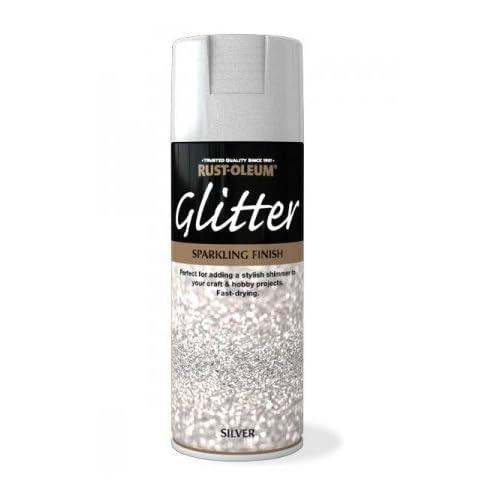 Rust Oleum Sparkling Silver Glitter Aerosol Spray Paint