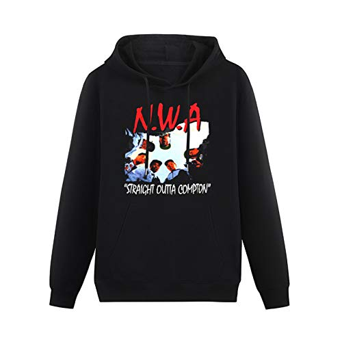 Mens Cyberz N.W.A (NWA) Straight Outta Compton Hoodies Long Sleeve Pullover Loose Hoody Sweatershirt Black L
