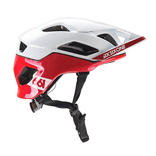 Casque SIXSIXONE 661 EVO AM PATROL Blanc/Rouge Taille Casque XS/S