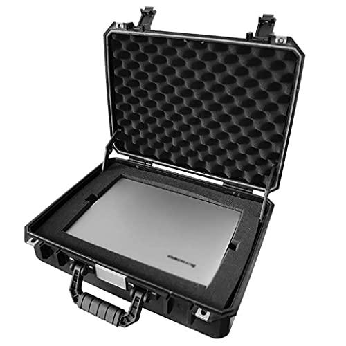XBSXP Estuche rígido para cámara, maletín de Espuma Negra Caja de Herramientas Estuche portátil de Transporte Caja de Transporte de Seguridad Resistente a los Golpes 47.5x38x14cm