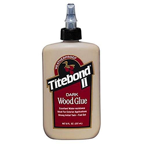 Titebond 3703 Cross-Linking Polyvinyl Acetate Dark Wood Glue, 8 Oz, Bottle, Light, Liquid, 8 Fl Oz (Pack of 1), Brown