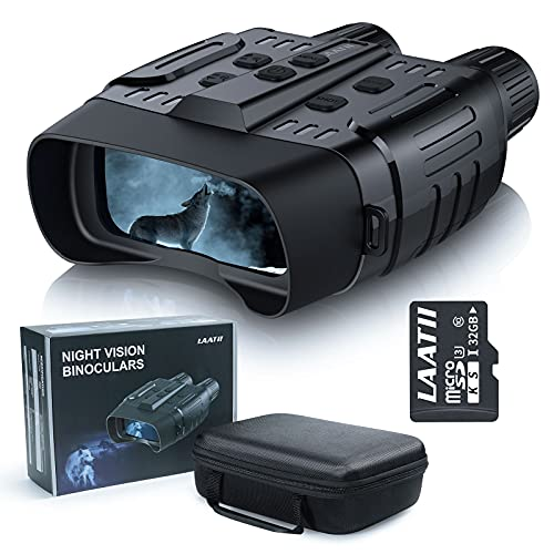 Night Vision Binoculars Goggles for Adults, Digital Infrared Binoculars with Night Vision for Hunting, Spotting, Surveillance, Spy with 32GB Memory Card