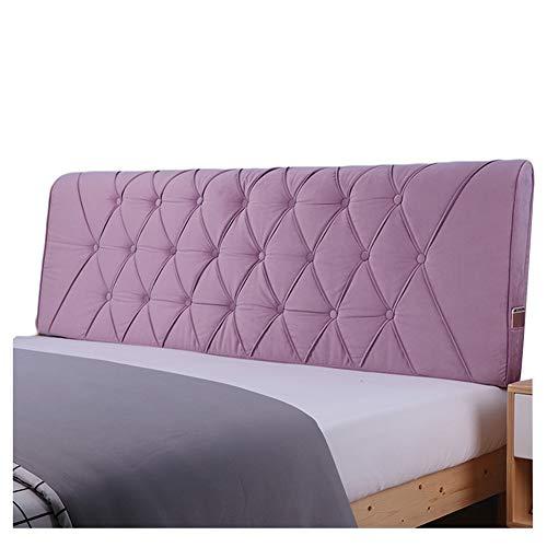 WENZHE Dossier De Lit Tête De Lit Coussin Wedge Pillow Housses De Coussins Oreiller Tissu Dossier Accueil Étui Souple Lavable Ne Pas Se Faner, 7 Couleurs (Color : B, Size : 120x58cm)