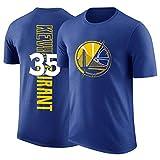 NBA La Camiseta De Los Hombres De Oro State Warriors Kevin Durant Aficionados Jersey Transpirables Atletismo Verano ¡para Jóvenes S-XXXL Blue-M