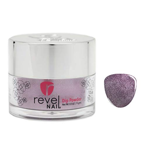 Revel Nail Dip Powder | for Manicures | Nail Polish Alternative | Non-Toxic, Odor-Free | Crack & Chip Resistant | Vegan, Cruelty-Free | 0.5oz Jar | Shimmer Color | (Modest, 0.5oz)