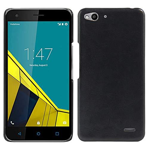 Vodafone Smart Ultra 6Casos, hualubro [Ultra Slim] Premium cocodrilo ligero Funda de piel sintética para Vodafone Smart Ultra 6Smartphone, piel sintética, Crocodile Cover Black, For Vodafone Smart Ultra 6