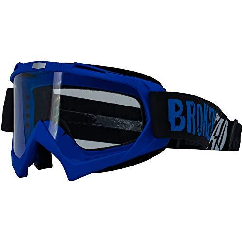 Broken Head MX-2 Goggle Blau - Motorrad-Brille Für Motocross, Enduro, Downhill, Offroad - Mit UV-Schutz