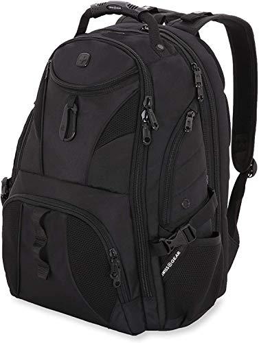 SWISSGEAR 1900 ScanSmart Laptop Backpack- Black/Black