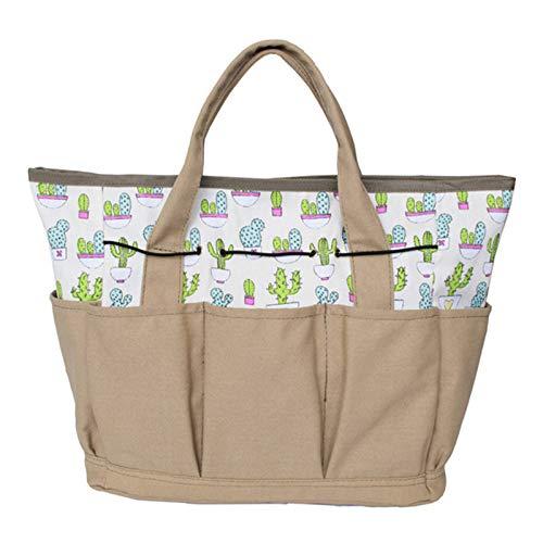 Tancyechy Canvas Outdoor Garden Bag Multi Pocket Herramientas de jardinería Organizador Tote Carrier Storage Tote