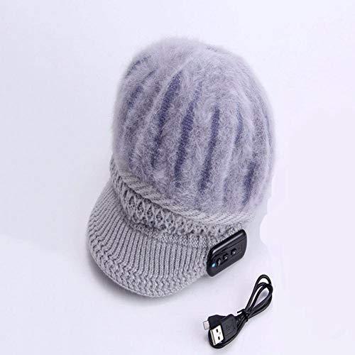 ZSP Bluetooth-kap, draadloze luidsprekerheadset, microfoon-muziekdop, sneeuwkap, intelligente muziek hoofdtelefoon voor buitengebruik, multifunctionele winterkap, Bluetooth 4.0