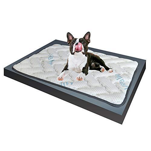 Memory-Schaumstoff-Matte für kleine Hunde, mit elastischer Visco-Füllung, passt sich den Körperformen und Gewichten an, Hundebett aus antiallergenem Stoff, 65 x 85 cm