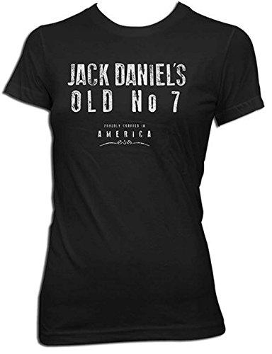 Jack Daniels Women's Daniel's Crafted in America Short Sleeve T-Shirt Black X-Large
