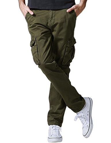 Matchstick Herren Cargo Hose#6531(6531 Armee Green,XXL)