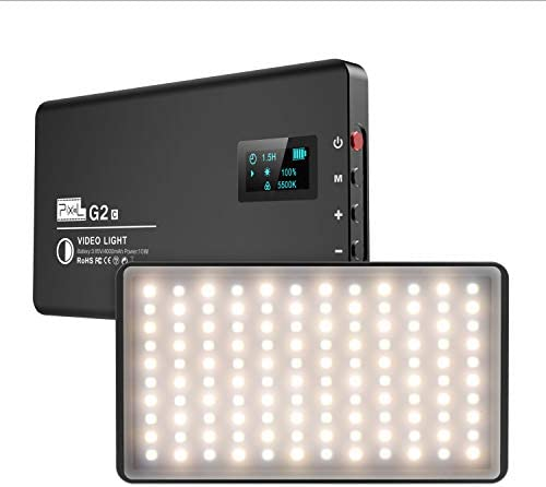 Pixel Ultra Slim Bi Color LED Camera Light Built in Rechargeable 4000mAh Battery DSLR Light product image