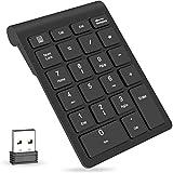 QPAU [Layout Italiano] Mini Tastiera Retroilluminata, 2.4Ghz Mini Tastiera Senza Fili Wireless con Touchpad per PC, Pad,...